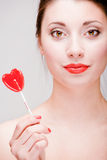 Girl With A Lollipop Stock Image