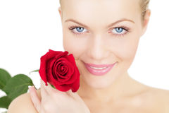 Free Girl With A Red Rose Royalty Free Stock Photo - 16876845