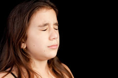 Girl With A Very Sad Face Crying Stock Photography