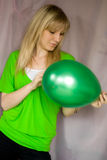 Girl With Balloon Stock Photos