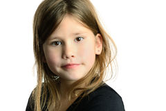 Girl With Beautiful Expression Stock Photo