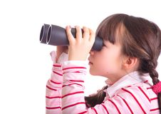Free Girl With Binoculars Royalty Free Stock Image - 8299836