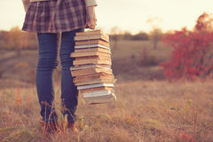 Free Girl With Books Royalty Free Stock Images - 45211079