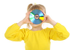 Girl With Cd Stock Image
