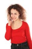 Girl With Cellphone Stock Photos