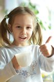 Girl With Cup Stock Photography