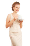 Girl With Cup Of Tea/coffee Royalty Free Stock Images