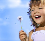 Girl With Dandelion Stock Image