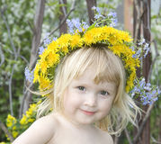 Girl  With Dandelion`s Diadem