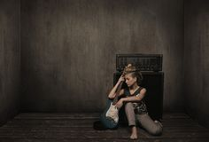 Free Girl With Guitar Stock Photography - 10936802