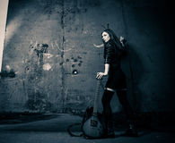 Free Girl With Guitar Stock Photography - 35229532