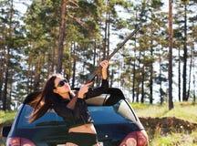 Free Girl With Gun Royalty Free Stock Image - 10805786