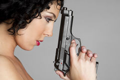 Free Girl With Gun Stock Image - 12943131