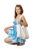 Girl With Handbag Royalty Free Stock Image