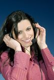 Girl With Headset Royalty Free Stock Image