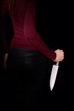 Girl With Knife Royalty Free Stock Image