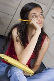 Girl With Letter Royalty Free Stock Photography