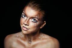 Free Girl With Makeup Deer Stock Photo - 47427550