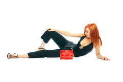 Free Girl With Red Handbag Stock Image - 2907931