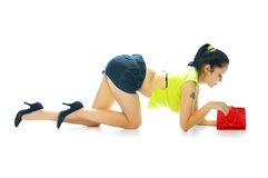 Free Girl With Red Handbag Stock Photography - 2921612