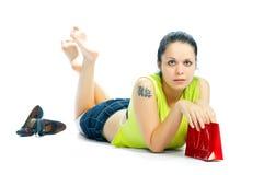 Free Girl With Red Handbag Stock Photos - 3278323
