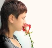 Girl With Rose Stock Image