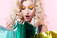 Free Girl With Shopping Bags Royalty Free Stock Photography - 17639737