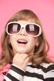 Girl With Sun Glasses Royalty Free Stock Photography