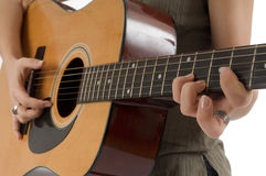 Girl With The Guitar Stock Image