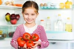 Free Girl With Tomatos Royalty Free Stock Image - 28568306