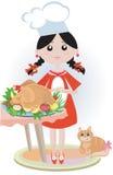 Girl With Turkey Stock Photos