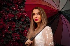 Free Girl With Umbrella. Stock Image - 217448141