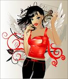 Girl With Wings Stock Photography