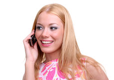 Girl witha mobile phone Royalty Free Stock Image