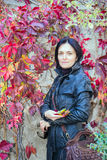 Girl or woman in the autumn Stock Photo
