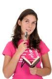 Girl wondering Royalty Free Stock Images