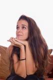 Girl wondering Royalty Free Stock Photo