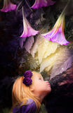 Girl in Wonderland Stock Images