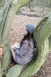 Girl in the wood Stock Photo