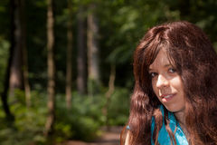 The girl in the woods Royalty Free Stock Images