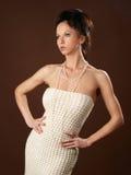 Girl in woolen dress Royalty Free Stock Photo