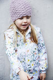 Girl in woolly hat Royalty Free Stock Photography