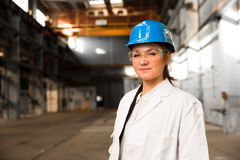 Girl worker in the factory Royalty Free Stock Photo