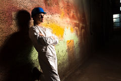 Girl worker in the factory Royalty Free Stock Photography