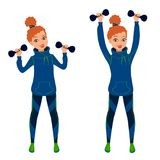 Girl working out Stock Photography