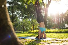 Girl working out Royalty Free Stock Photo