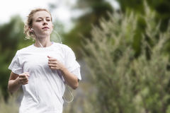 Girl working out Royalty Free Stock Image