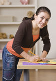 Girl Working on Project Royalty Free Stock Images