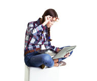 Girl working Royalty Free Stock Image