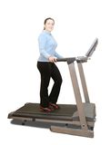 Girl workout on treadmill Royalty Free Stock Photos